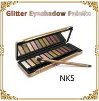 Best Quality New 5 Type Eye shadow palette 12 Colors NK5 Makeup eyeshadow palettes with brushes Dropshipping as gift