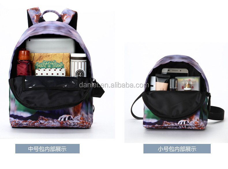 One set beautiful backpack and bag