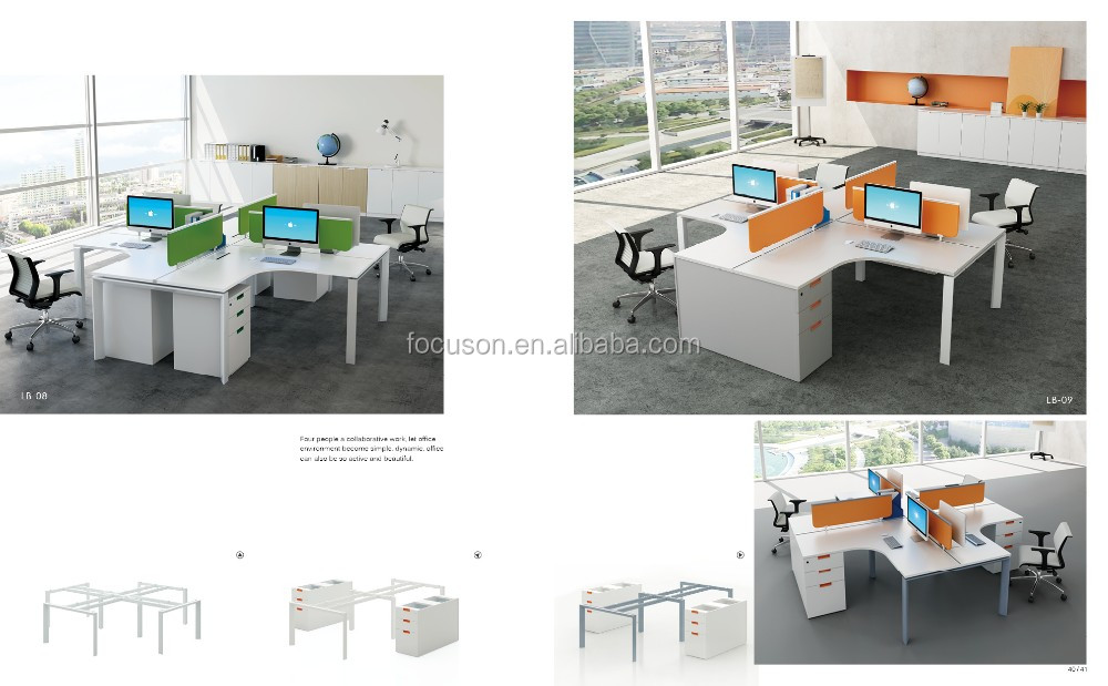 FKS-YZ-LB Offic furniture modern office partition cubicle open office workstation