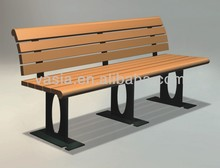WPC Garden Bench with Wooden Seat
