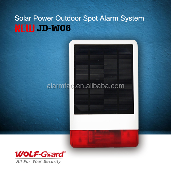 Home Security Solar Power Supply Wireless Horn Strobe
