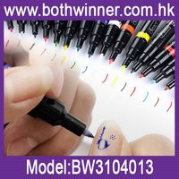 Double ends nail art drawing pen ,h0t095 the best choose nail art pen , french nails art pen white color