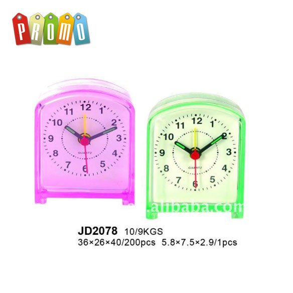 cheap plastic table clock