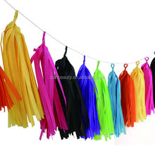 UK market hot product party favor tissue paper tassel garland