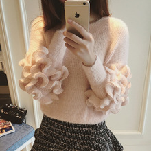 B40767A Fashion young lady elegant candy color sweater