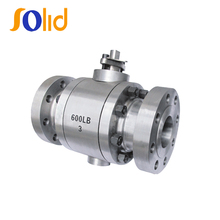 3PC flanged forged steel trunnion ball valve 600LB