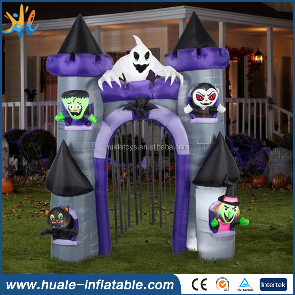 High quality customized halloween advertising inflatable arch for sale