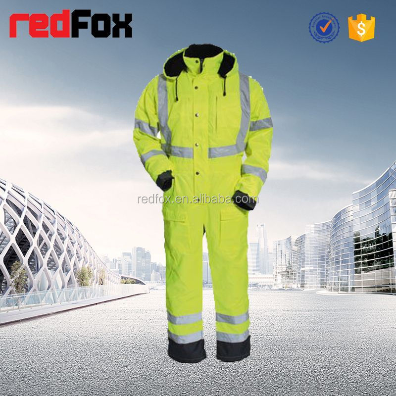 reflective safety contrast colour suit