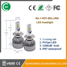 Finely processed Car LED H8 H9 H11 Headlight Kit PHILIP/S 72W 7600LM White High Power 6000K All IN ONE led headlight assembly