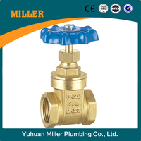 ML-1005 3 Inch Forged Brass Gate Valve Aluminum Handle Female ANSI Threaded Gate Valve 200WOG Non-Rising Stem Gate Valve