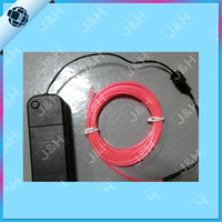 Electroluminescent lightning wire for security labels and instructions