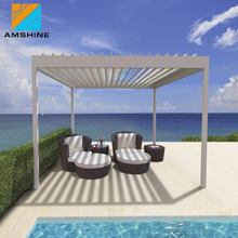 Motorized roof outdoor awning metal pergola for house
