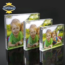 JINBAO factory wholesale picture display box clear acrylic photo frame