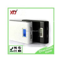 Smart LCD 10000mAh mobile power bank charger 18650 lithium-ion polymer battery