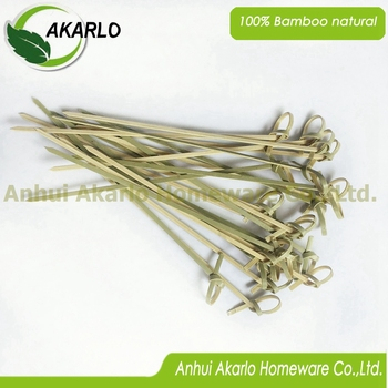 disposable fruit bamboo knotted picks