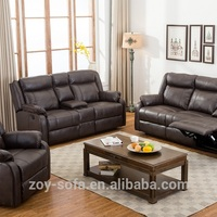 New Style Black Living Room Leather