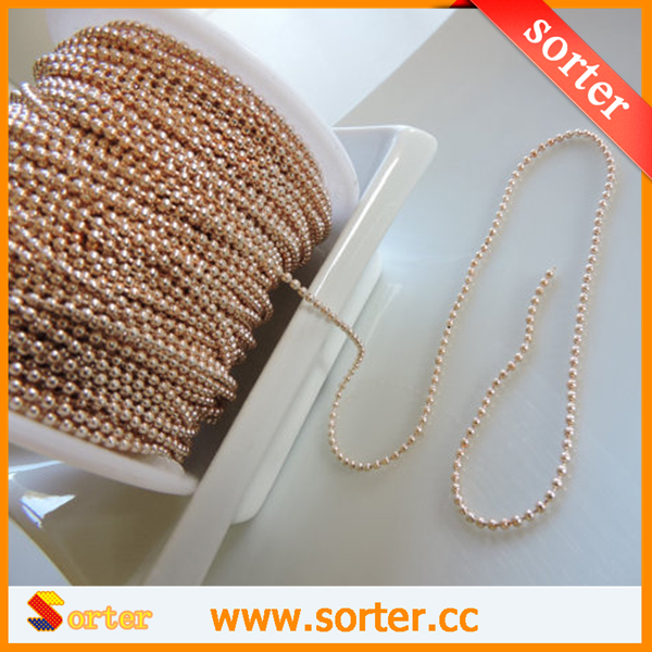 high quality environment metal ball chain tag ball chain low price customs chain