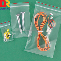 pe ziplock bag for mobile phone cable and charger
