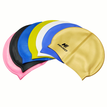 Cheap price OEM accept custom college logo latex silicone swim caps for adults