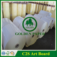 Jumbol Roll 90GSM 128GSM Art Paper Couche Paper from Factory