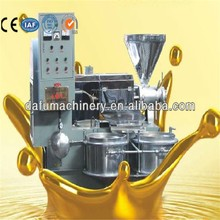 Screw type cold&hot press sunflower oil press machine with small land occupation