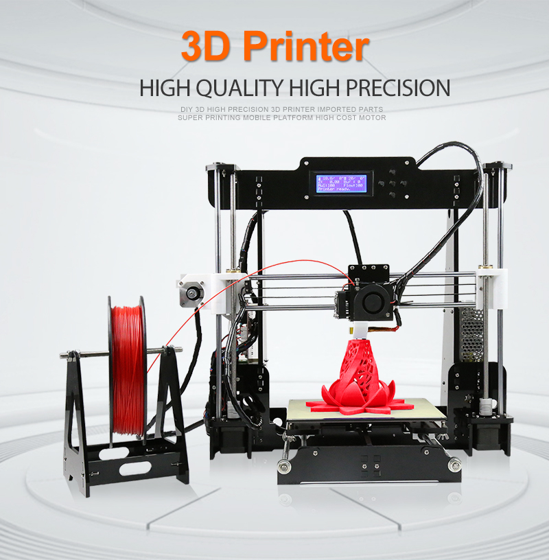 Ce-certificering Anet A8 Impresora 3D Hoge Precisie Desktop 3D Printer Kit