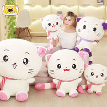 China Promotional Cute Plush Big Face Cat Toy For Kids Gift