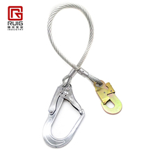 Safety pvc coating stainless steel wire rope cable lifting sling with hooks