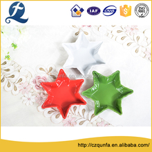 Multi Color Custom Star Shape Ceramic Plate Customized Dish For Restaurant