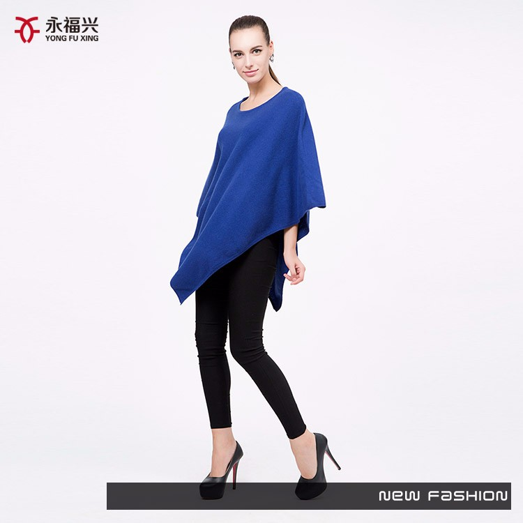 Latest design ladies casual wearing knit poncho