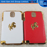 2014 Design Gold Electroplated Frame Hard PC Back Cover Case For Samsung for Note3 N9000