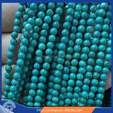 "8mm natural turquoise Gemstone Round Loose Beads 16""Howlite Turquoise Gemstone Round Loose Beads"