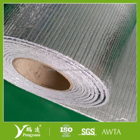 Reflective flooring underlayment foam with aluminum foil