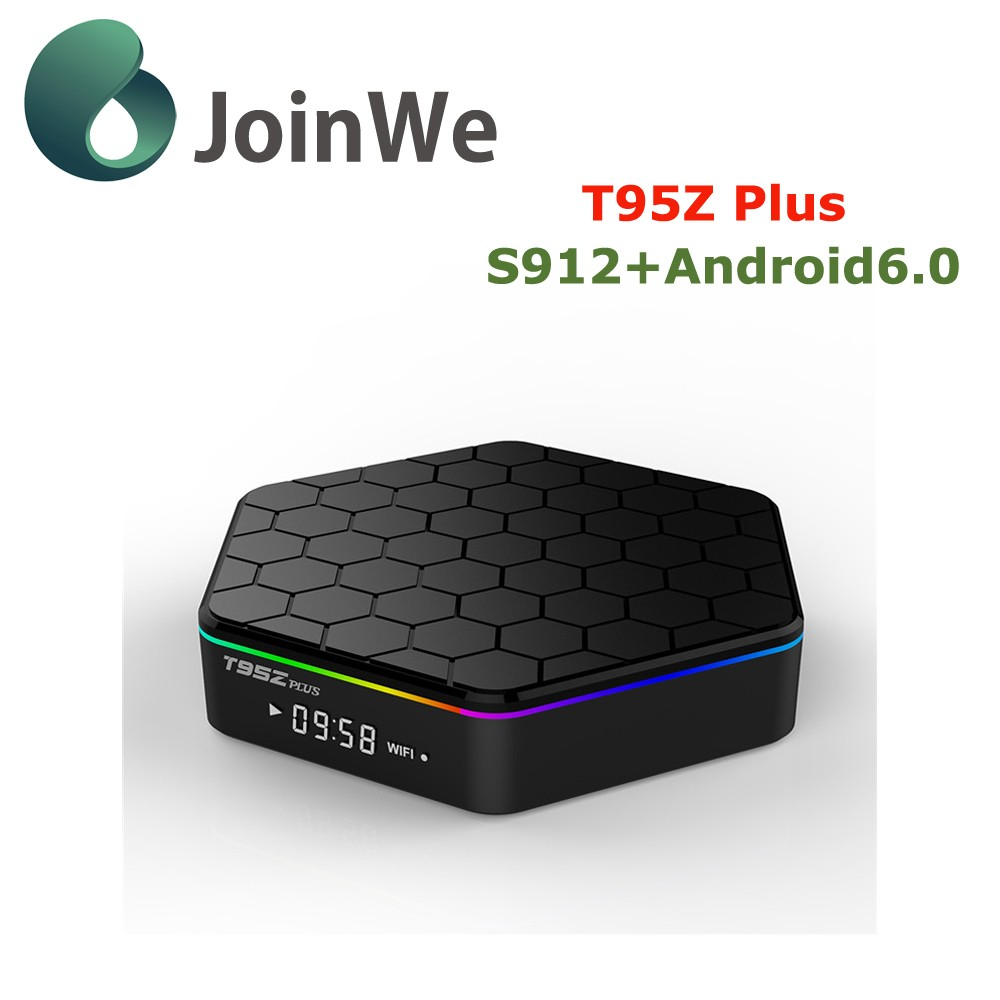 cheapest Android Tv Box t95Z plus Android6.0 Amlogic S912 4K*2K Octa Core Pendoo Streaming tv box