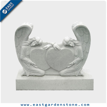 White marble double weeping angel headstones for babies