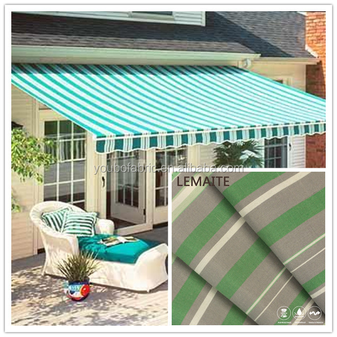Morden fashion restaurant outdoor sun shade protect fabric with windproof customized printing fabric