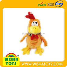 battery operated musical crazy plush cock plush swing rooster toy