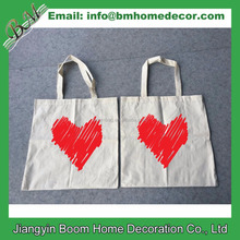 Wholesale Promotional Cheap Custom Logo Printed Natural Cotton Canvas Cloth Carry Tote Bag