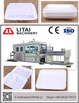 Good quality eps/ps foam food container plastic vacuum forming machine