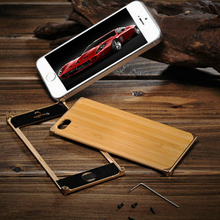 Bamboo metal bumper bulk case for iphone 5, front and back cover for iphone 5, back case cover for iphone 5s