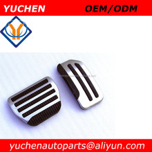 YUCHEN AT/ MT Aluminum alloy Car Pedal Foot Rest Pedals Plate Cover For Nissan new TIIDA, new Sylphy, new sunshine, Qashqai, X-T