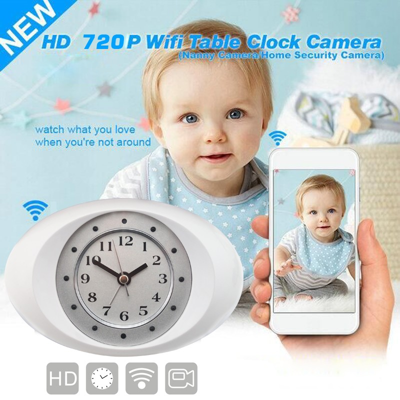 Cool P2P Alarm Clock WiFi Spy Camera Clock DVR Digital Video Recorder Cam Home Security IP Camera and Baby Monitor