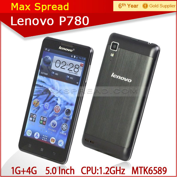 cheap lenovo p780 phone android 4.2 mtk6589 quad core lenovo latest cellphone models