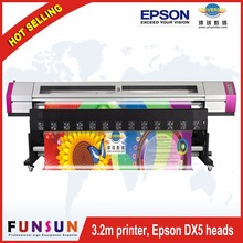 Galaxy UD-3212LD 3.2m 10ft two DX5 head 1440dpi eco solvent large format digital printer for sticker and banner printing