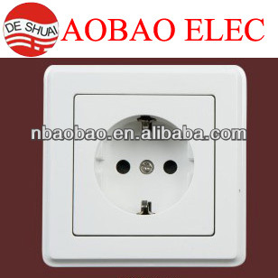 wall flush socket with earthing