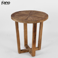 custom elm small round tea table rustic vintage french coffee table