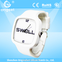 Newest Super Thin Silicone Watch 5ATM Waterproof Japan Movement Customs logo advertising wrist watch