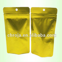 One Full Gold Color Printing Flat Foil Bag