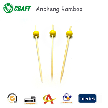 Direct selling China round pearl knot of banana bamboo skewers