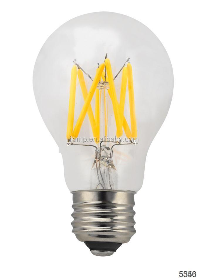 Edison Bulb String Yellow Color Amber Gold Glass Shell Led Globe Dimmable Filament Bulb - Buy ...